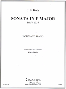 Bach: Sonata in E Major