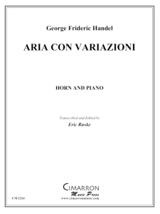 Handel: Aria con Variazoni for horn & piano