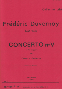 Duvernoy: Concerto No.5 in F