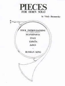 Buyanovsky: Pieces for Solo Horn