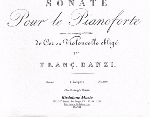 Danzi: Sonata in E minor