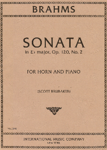 Brahms: Sonata in Eb major